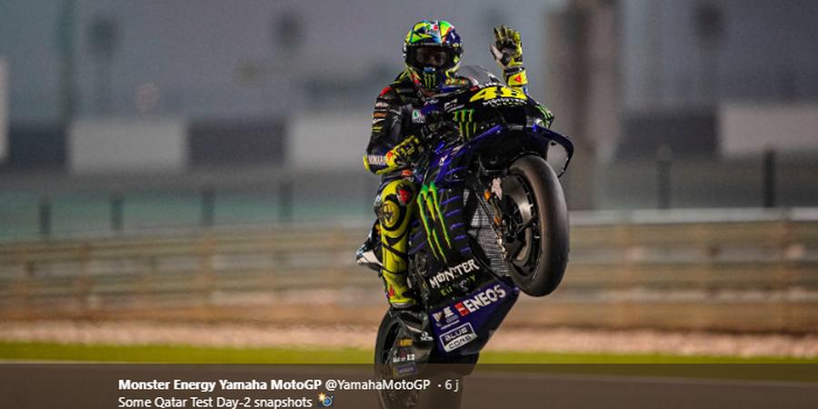 Tes Pramusim MotoGP 2020 Qatar - Utak-atik Motor Valentino Rossi Berujung Buntung