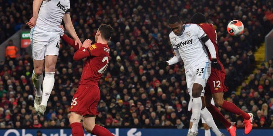 Hasil Babak I - Keunggulan Liverpool atas West Ham Hanya Bertahan 3 Menit