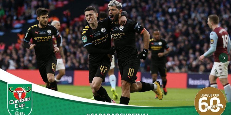 Babak I Final Piala Liga Inggris - Sergio Aguero dan Rodri Bawa Man City Unggul 2-1
