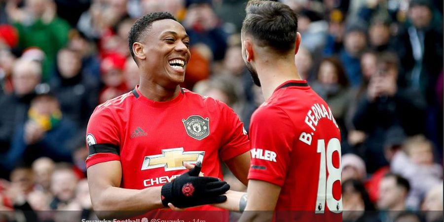 Bruno Fernandes Cerita Skenario Gol Cantik Martial ke Gawang Manchester City