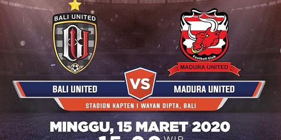 Link Live Streaming Bali United Vs Madura United, Persiapan Tim Tuan Rumah Cukup Singkat