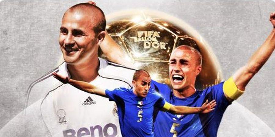 Cannavaro Jadi Bek yang Menang Ballon d'Or 2006 karena Dipilih dengan Mata Merem