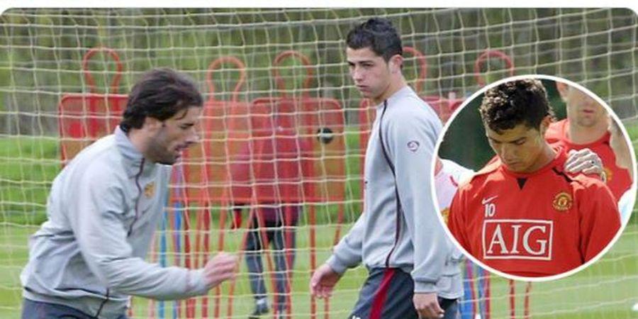 1 Kalimat Ruud van Nistelrooy yang Buat Cristiano Ronaldo Nangis di Man United