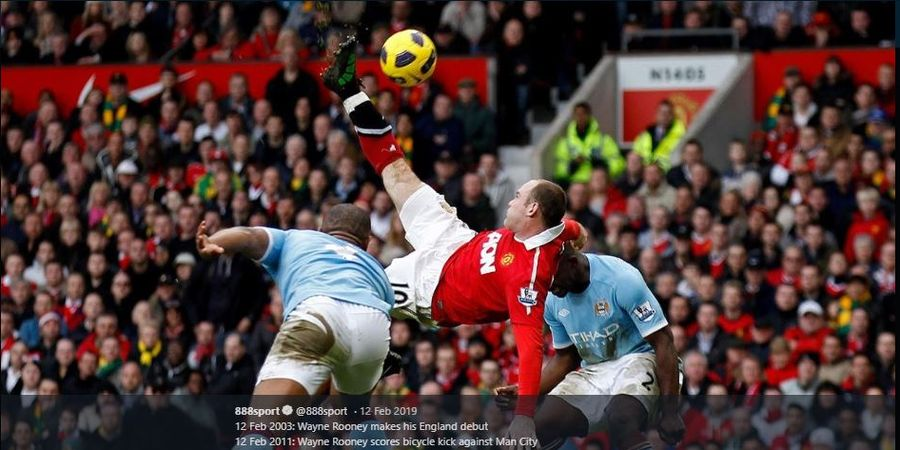 Gol Salto Wayne Rooney ke Gawang Man City Buat Old Trafford Bergemuruh