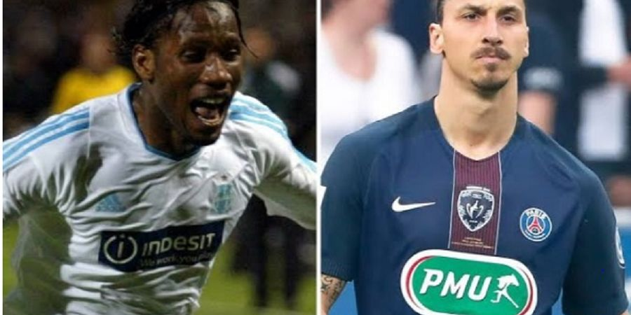 Drogba Tendang Ibrahimovic dalam Pemilihan Striker Terhebat Liga Prancis 20 Tahun Terakhir