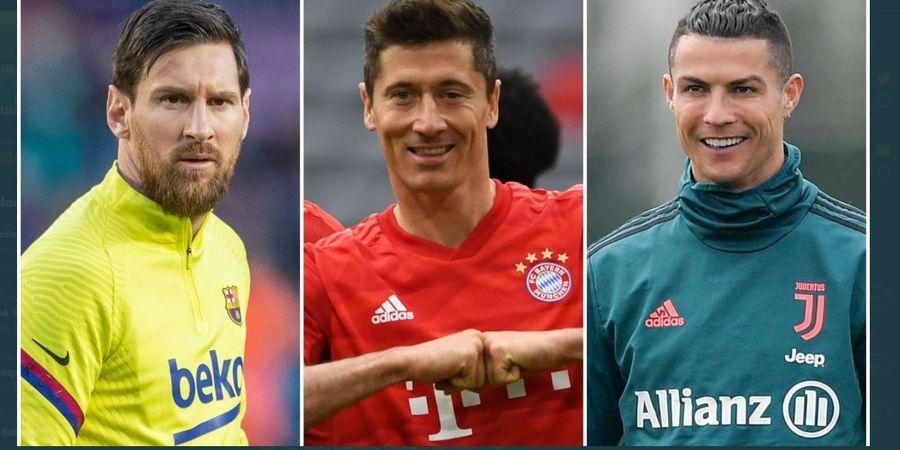 Messi, Lewandowski, Ronaldo: 3 Penyerang Paling Mematikan Sudah di Atas 30 Tahun