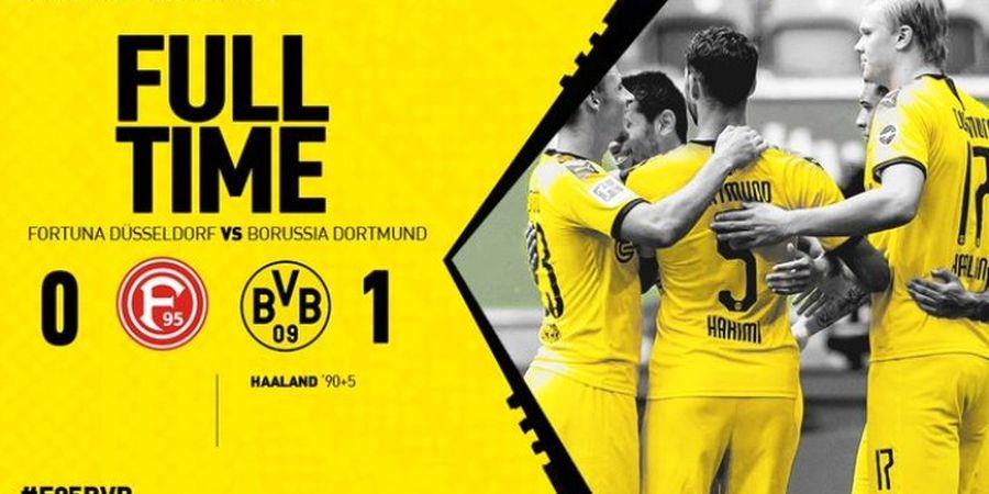 Hasil Bundesliga - Dramatis, Gol Haaland Selamatkan Borussia Dortmund