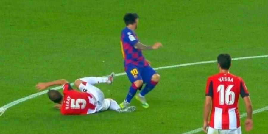 VIDEO - Pelanggaran Brutal Lionel Messi, Layak Kartu Merah?