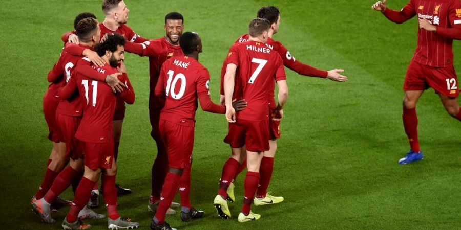 LIVERPOOL JUARA - Pemain The Reds Rayakan Gelar Juara Sambill Nobar Chelsea Vs Man City