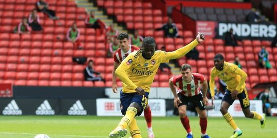 Hasil Piala FA - Nicolas Pepe Nomor 2 Terhebat, Arsenal Melaju ke Semifinal