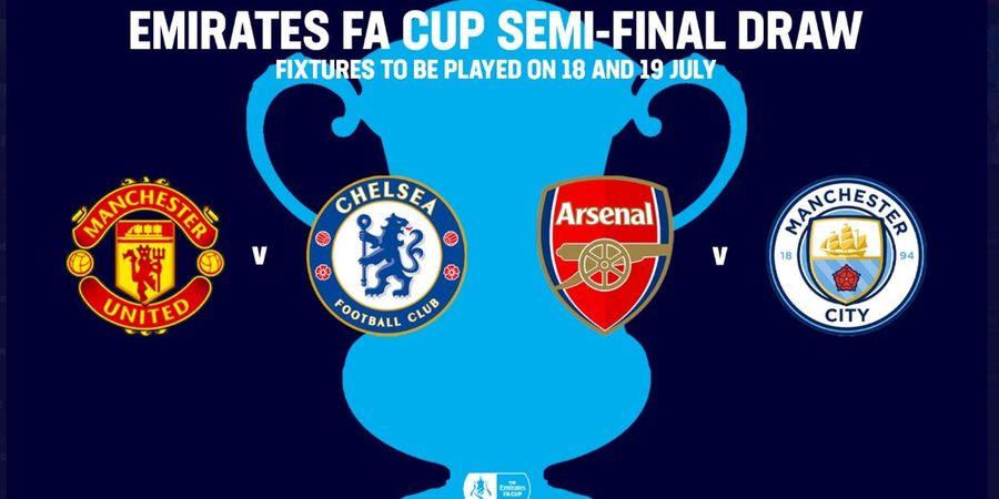 Jadwal Semifinal Piala FA - Manchester United Hadapi Chelsea dan Arsenal Bertemu Manchester City