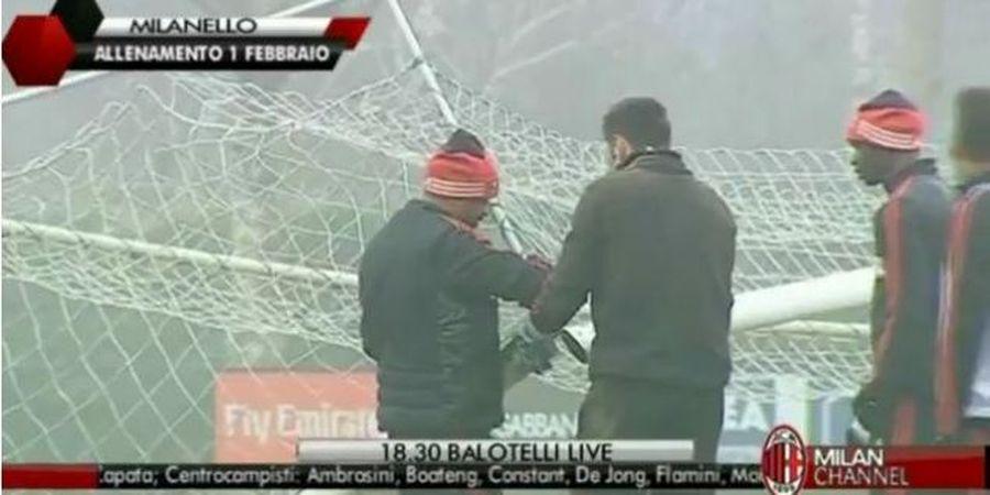 Brutal! Momen saat Pemain AC Milan ini Hancurkan Mistar Gawang