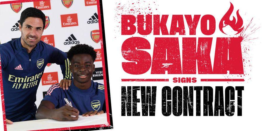 Arsenal Resmi Perpanjang Kontrak Wonderkidnya, Bukayo Saka