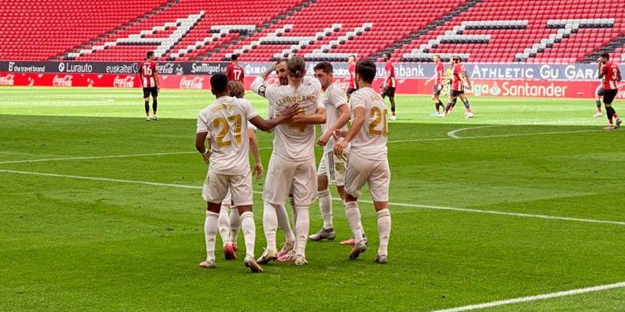 Hasil Liga Spanyol - Sergio Ramos Cetak Gol Penalti Lagi, Bawa Real Madrid Unggul 7 Poin
