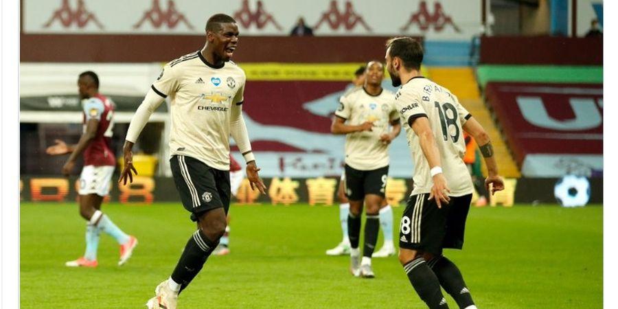 Hasil Liga Inggris -  Cukur Aston Villa 3 Gol Tanpa Balas, Man United Cuma Terpaut Satu Poin dari Leicester