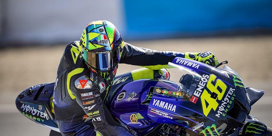 Kembali Beraksi, Valentino Rossi Langsung Dihadapkan Masalah di MotoGP Spanyol