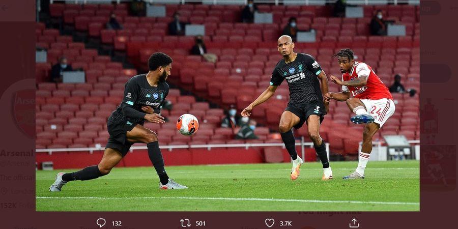 Hasil Babak I - Blunder Van Dijk dan Alisson Bawa Arsenal Unggul atas Liverpool