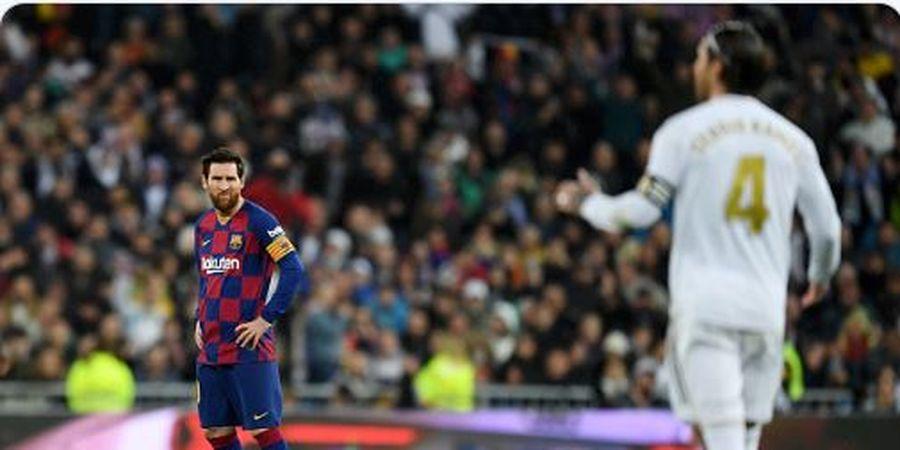 Real Madrid Vs Barcelona - Sambut El Clasico Ke-45, Lionel Messi Sejajar Sergio Ramos