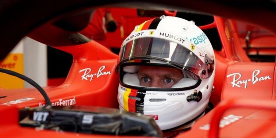 Sebastian Vettel Sebut Strategi Ferrari di Silverstone Tidak Masuk Akal