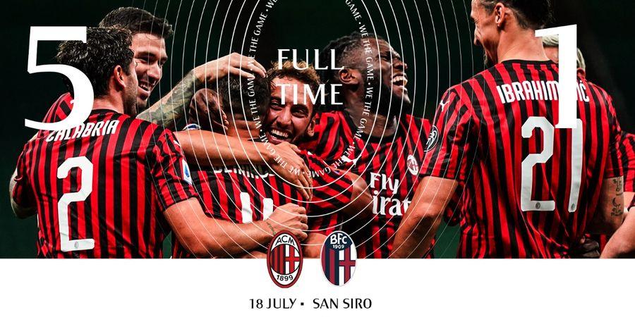 Hasil Liga Italia - Tiga Pemain Pecah Telur, AC Milan Pesta 5 Gol ke Gawang Bologna