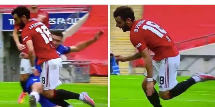 VIDEO - Bruno Fernandes Ketahuan Diving dan Sok Sakit Saat Man United Vs Chelsea