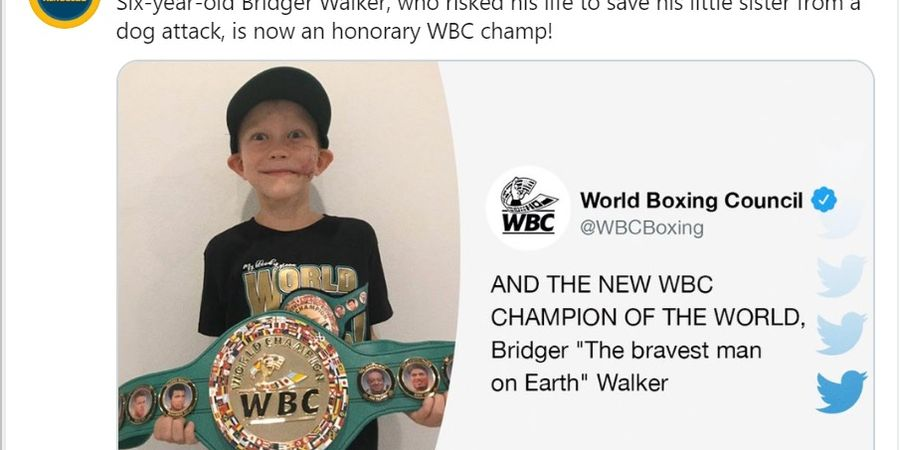 Selamatkan Adik dari Serangan Anjing, Bocah Viral Jadi Juara WBC