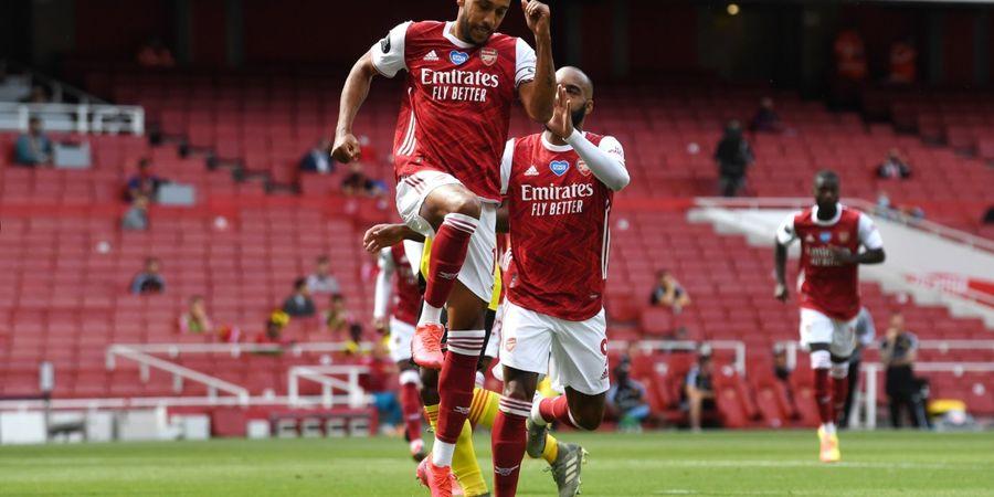 Hasil Liga Inggris - 2 Gol-1 Assist Aubameyang Bawa Arsenal Kirim Watford Terdegradasi