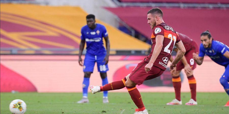Hasil Liga Italia - Dua Penalti Bawa AS Roma Taklukkan Fiorentina