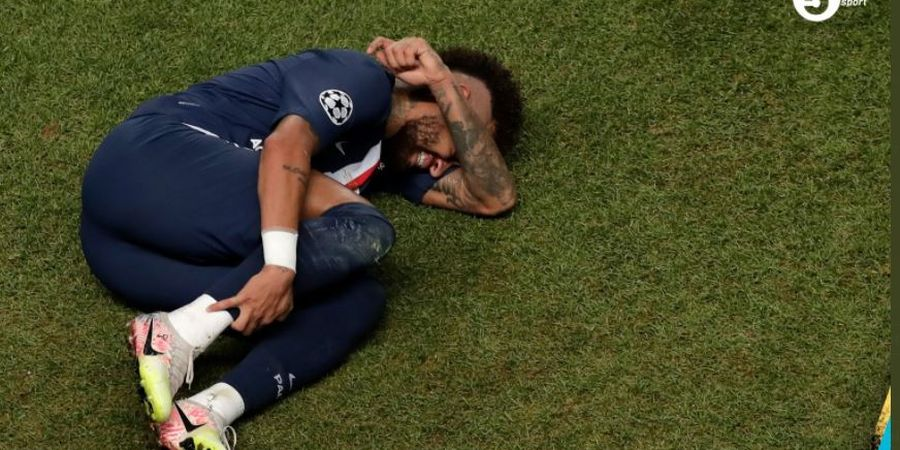 Berapa Kali Neymar Guling-guling di Final Liga Champions?