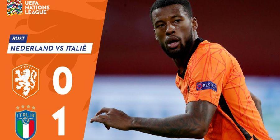 Babak I Belanda Vs Italia - Gol Nicolo Barella Bawa Gli Azzurri Ungguli Oranje