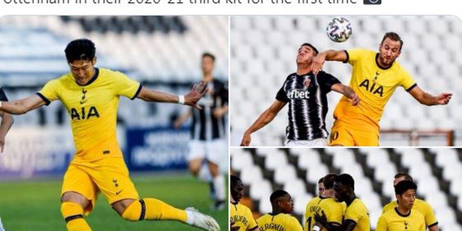 Kostum Ke-3 Tottenham Tak Bertuah, Pasukan Jose Mourinho Mandek di Liga Europa
