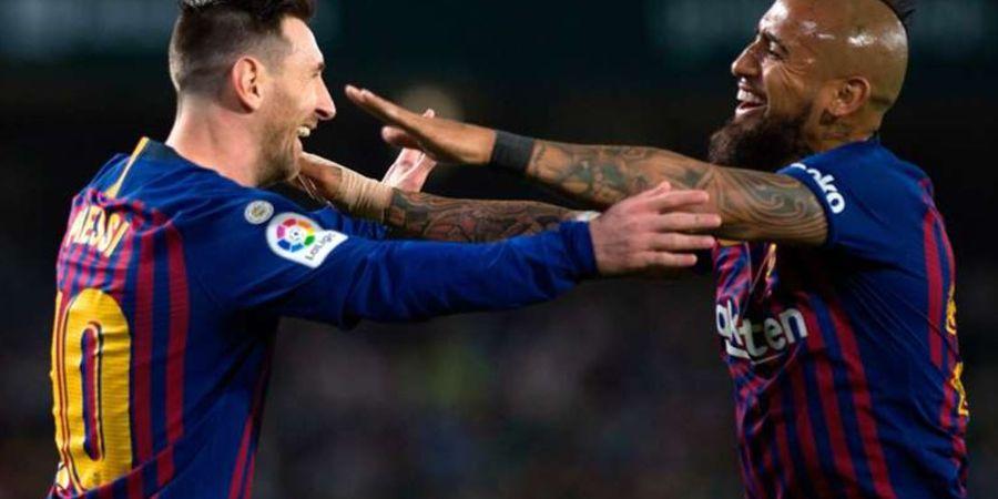 Lionel Messi Sampaikan Pesan Perpisahan, Arturo Vidal: Terima Kasih, Alien!