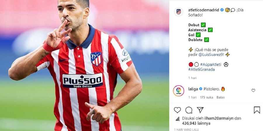 Luis Suarez Cetak Brace, tapi Pelatih Atletico Lebih Kagum Dua Hal Ini