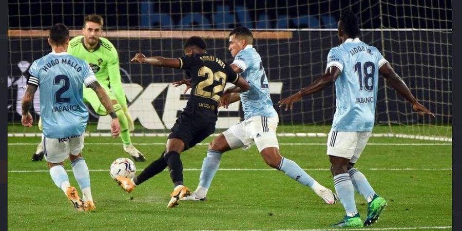 Babak I Celta Vigo vs Barcelona  - Ansu Fati Cetak Gol Ke-10 di Liga Spanyol