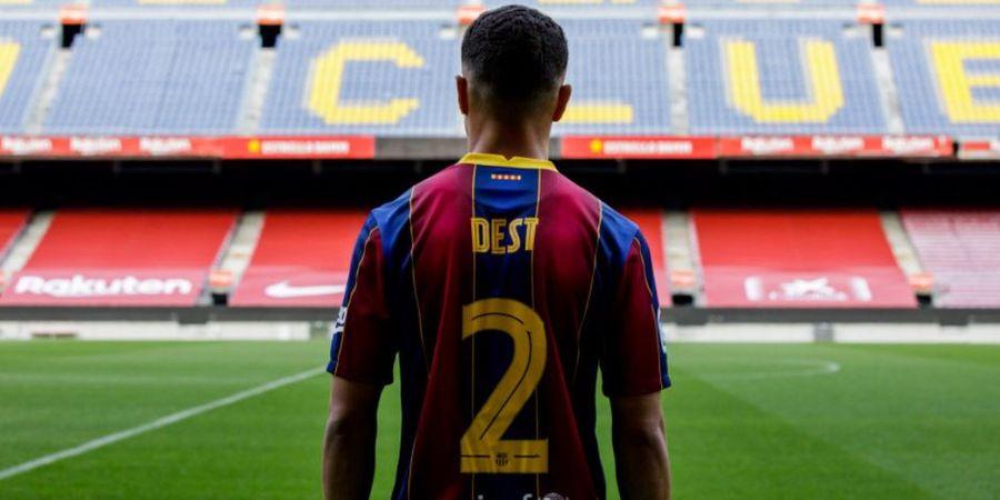 Sergino Dest Mengaku Sempat Bermasalah dengan Lionel Messi Saat Pertama Bertemu