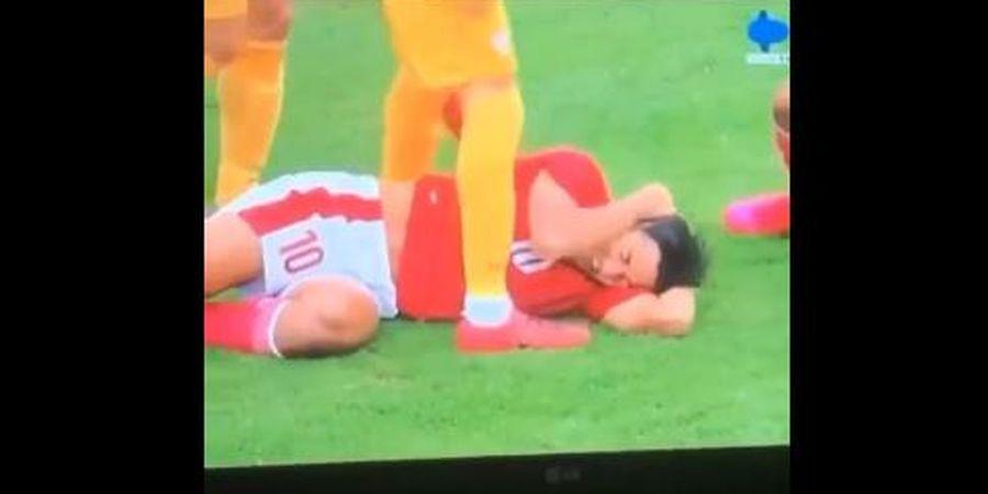 Pemain Timnas U-19 Indonesia Nyaris Terpancing Emosi Usai Jack Brown Diinjak 2 Kali oleh Pemain Makedonia Utara