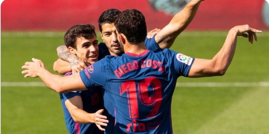 Hasil Liga Spanyol - Diego Costa Bantu Luis Suarez Cetak Gol Ke-150, Atletico Menang 2-0