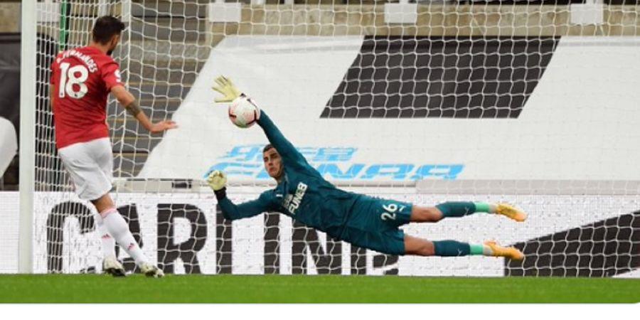 Hasil Liga Inggris - Meski Rekor Penalti Ternodai, Fernandes Sukses Bawa Man United Tekuk Newcastle