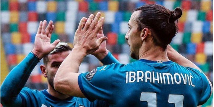 Hasil Liga Italia - Ibrahimovic Samai  Rekornya Sendiri 8 Tahun Lalu, AC Milan Kembali ke Jalur Kemenangan