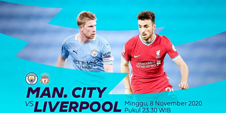 Link Streaming Manchester City Vs Liverpool, Pekan Ke-8 Liga Inggris