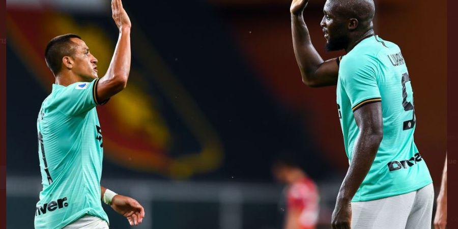 Susunan Pemain Inter Milan vs Torino - Romelu Lukaku Starter Lagi, Alexis Jadi Rekan Duet
