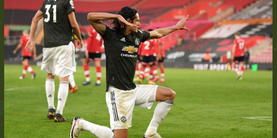 Cetak 1 Gol Tiap 43 Menit, Edinson Cavani Langsung Jadi Penyerang Tersubur Man United