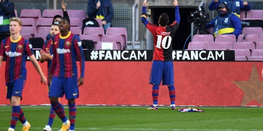 Barcelona Harus Bayar Rp 50 Juta Gara-gara Selebrasi Lionel Messi