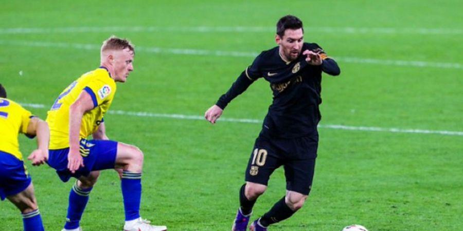 Cara 'Lebay' Pemain Cadiz Gagalkan Tendangan Bebas Lionel Messi