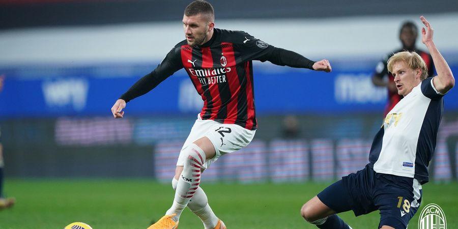 Hasil Babak I - Ante Rebic Gagal Cetak Gol, tapi AC Milan Berhasil Unggul atas Sampdoria