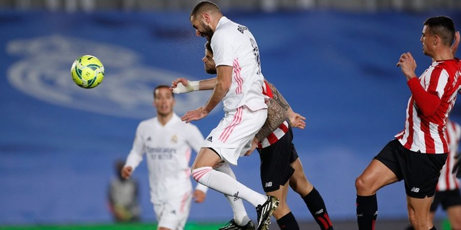 Real Madrid vs Athletic Bilbao - Karim Benzema Si Pangeran Gol Sundulan