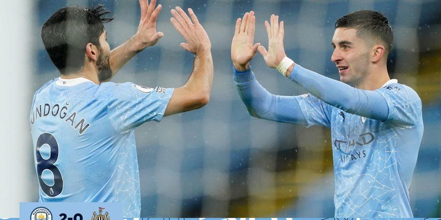 Hasil Liga Inggris - Kalahkan Newcastle, Man City Pepet Man United di 5 Besar