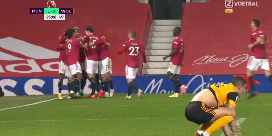 Hasil Liga Inggris - Rashford Cetak Gol Kemenangan Menit 90+3, Manchester United Akhirnya Bisa Pecundangi Wolves