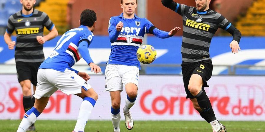 Keok dari Sampdoria, Rekor 8 Kemenangan Beruntun Inter Milan Berakhir