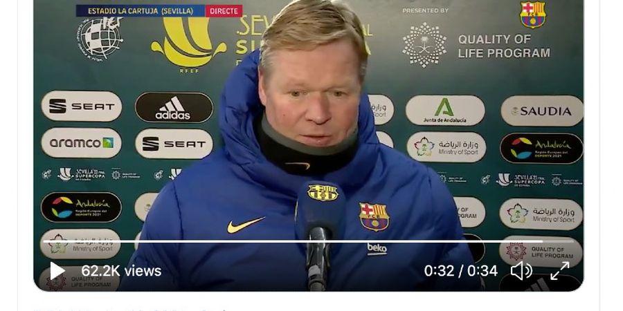 Barcelona Takluk dari Athletic Bilbao, Ronald Koeman: Ini Pertandingan Sulit